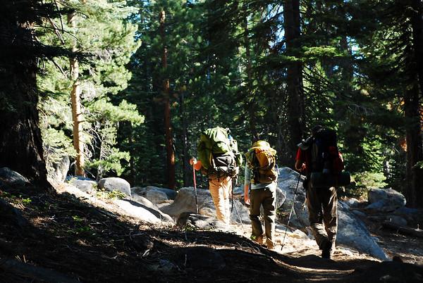 2009-08 Yosemite - Day 5, Near Half Dome to Sunrise Lakes via John Muir Trail