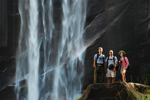 2009-08 - Jim, Fred and Melissa at Vernal Falls - Yosemite National Park, CA