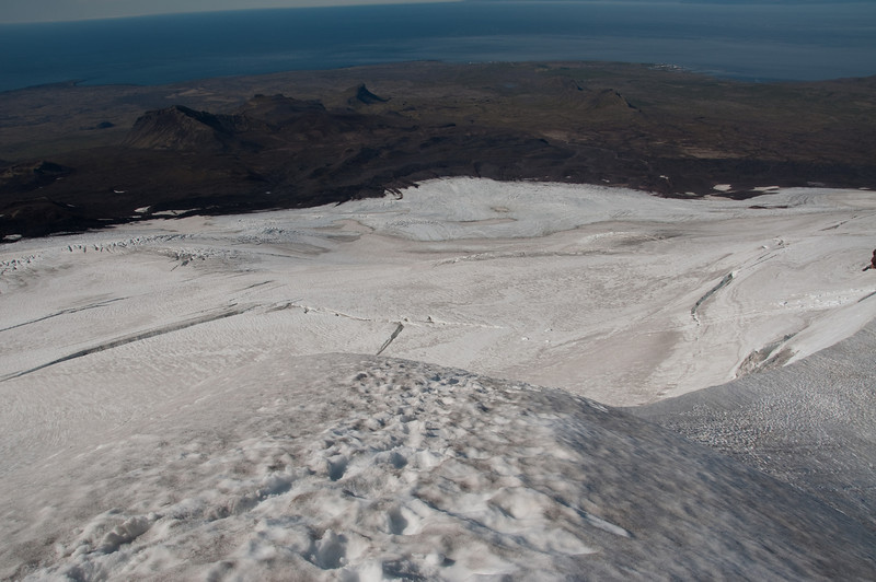 16:40 Útsýni til norðvesturs - frá Öndverðarnesi að Enni.