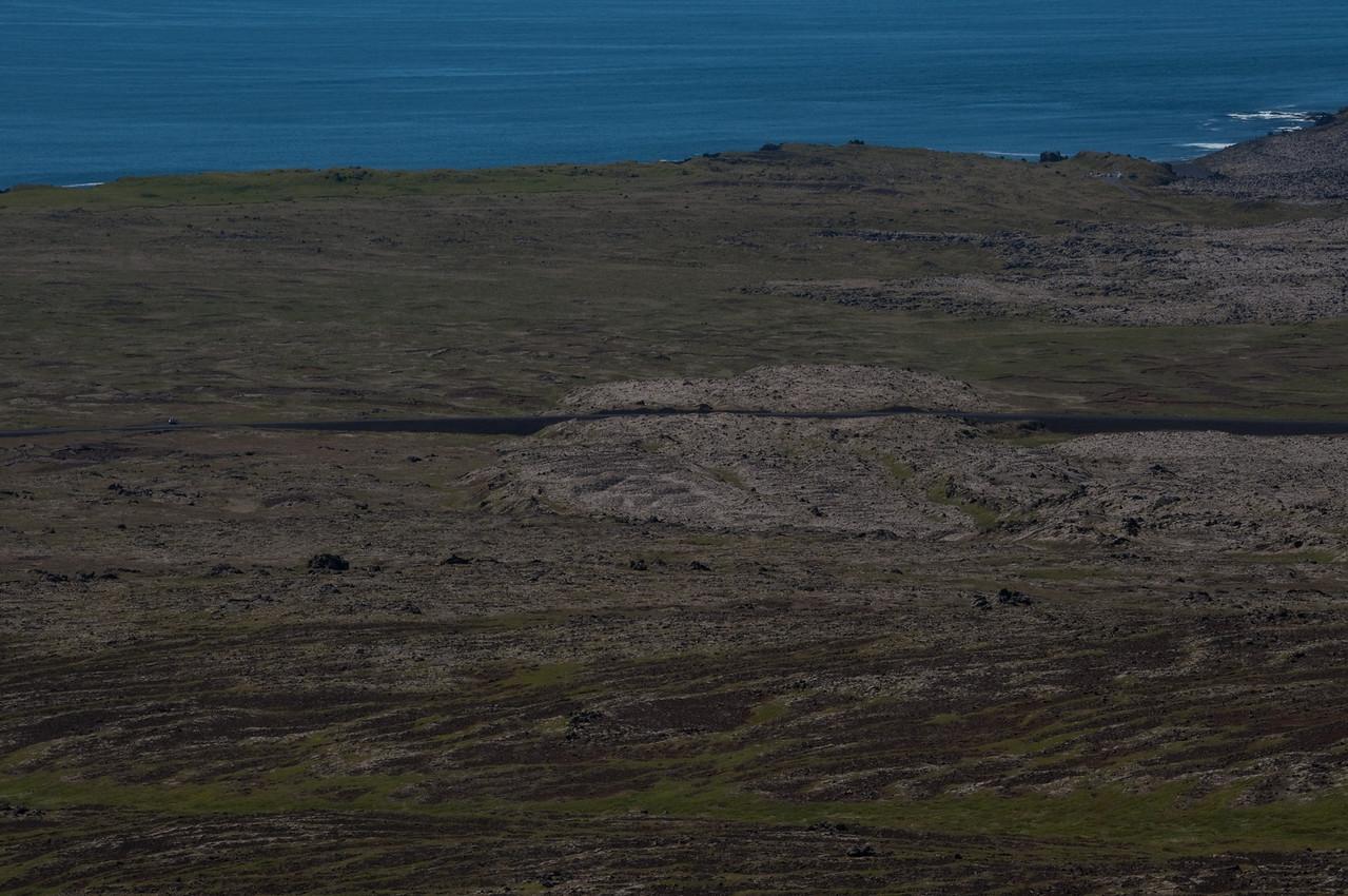 13:18 Bíllinn til vinstri - bílastæði við Djúpalón efst til hægri