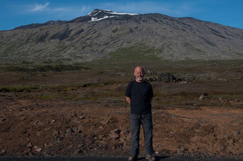 18:58 Við bílinn að göngu lokinni - var svo heppinn að vera skutlað alla leið.