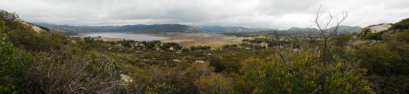 2011-03 Morena Butte Lake Morena Panorama