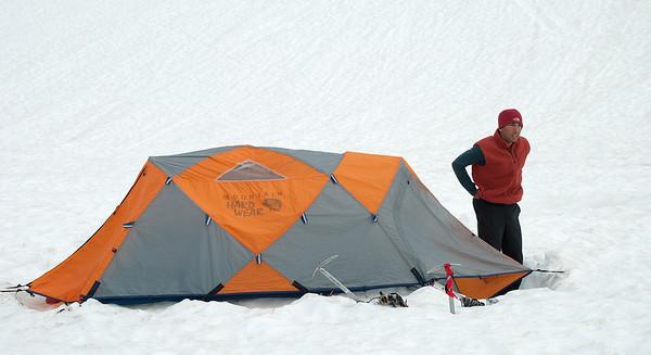2011-07 AMTL1, Day 4 - Sandy Camp, Easton Glacier  Jeremy