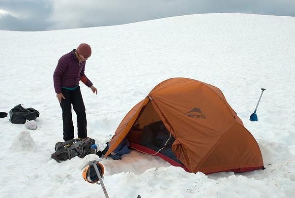 2011-07 AMTL1, Day 4 - Sandy Camp, Easton Glacier  Jen