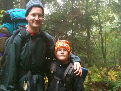 David and Andy backpacking on Moose Mountain.