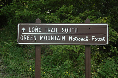 Long Trail southbound from Middlebury gap, Vermont.