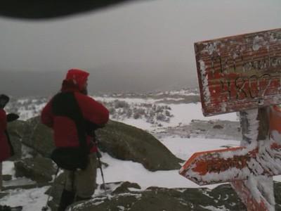 David and Kathy H on summit of Moosilauke.