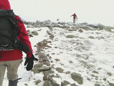 Video of approach to Moosilauke summit.  Kathy passes me and joins David H on top.