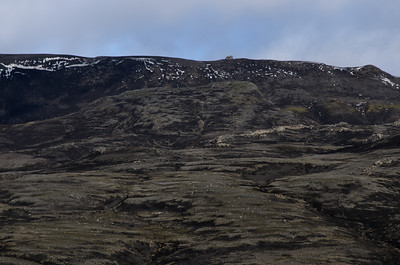 View towrds the hut. The landscape is bleak at the best of times - since the eruption in 2009 it looks even bleaker ...