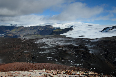 The steaming lava east of Magni
