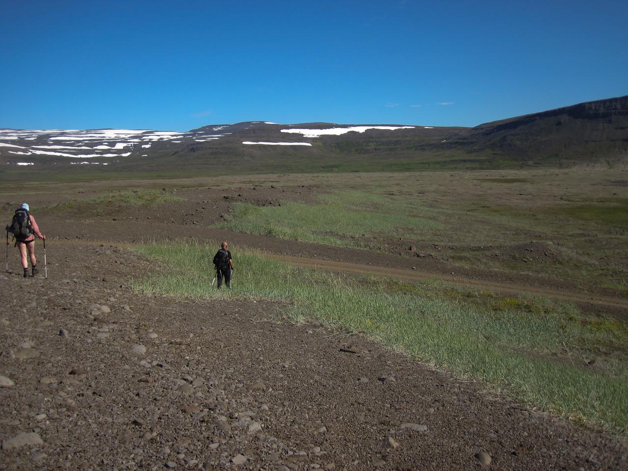 Haldið af stað í átt að Stakkadal á leið til baka til Hesteyrar