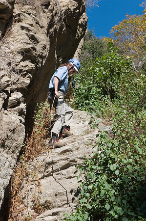 2012-11 Bailey Canyon  Ben on rappel