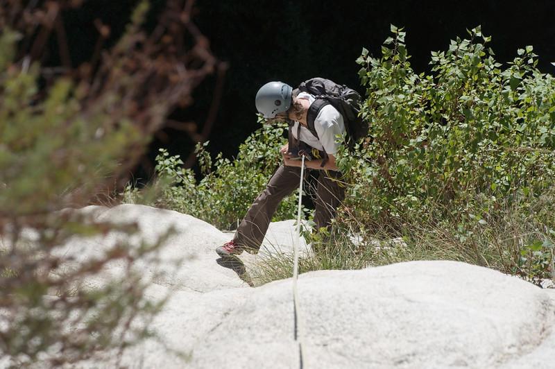 2012-11 Bailey Canyon  Kathy on rappel