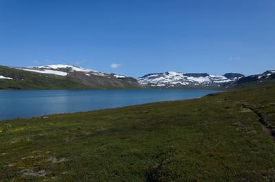 Á Kjósarhlíð. Horft inn Hrafnfjörð