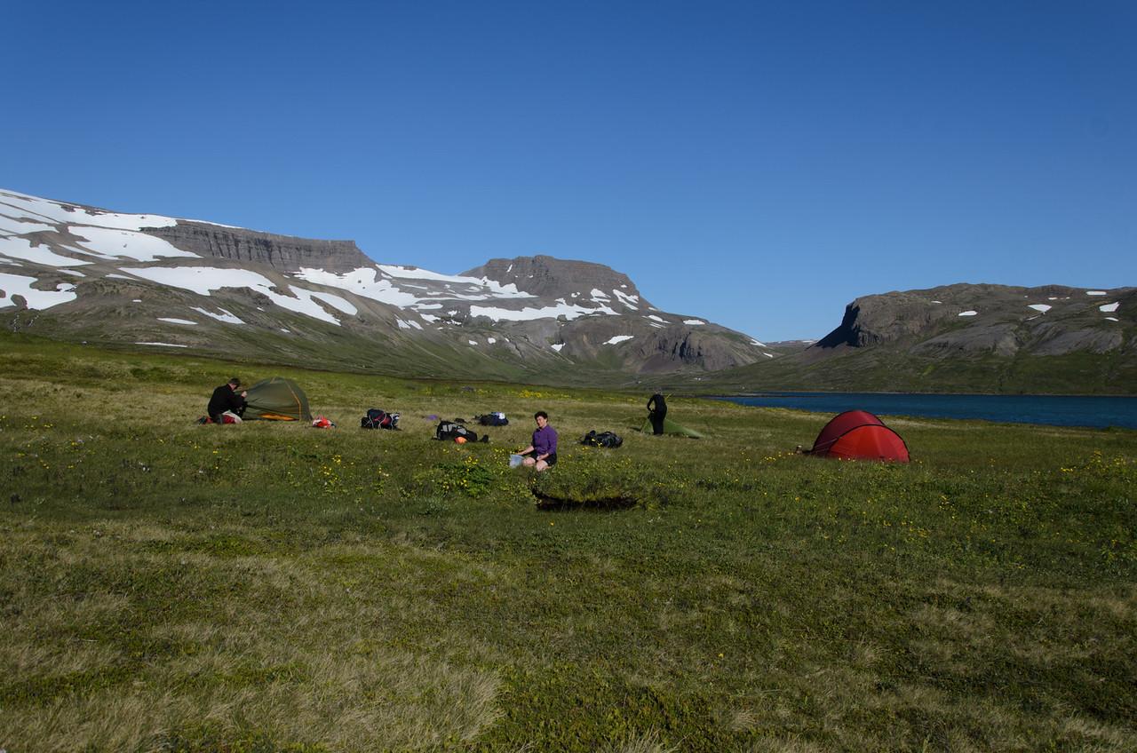 Tjaldbúðir við Álfsstaði norðan Hrafnfjarðar