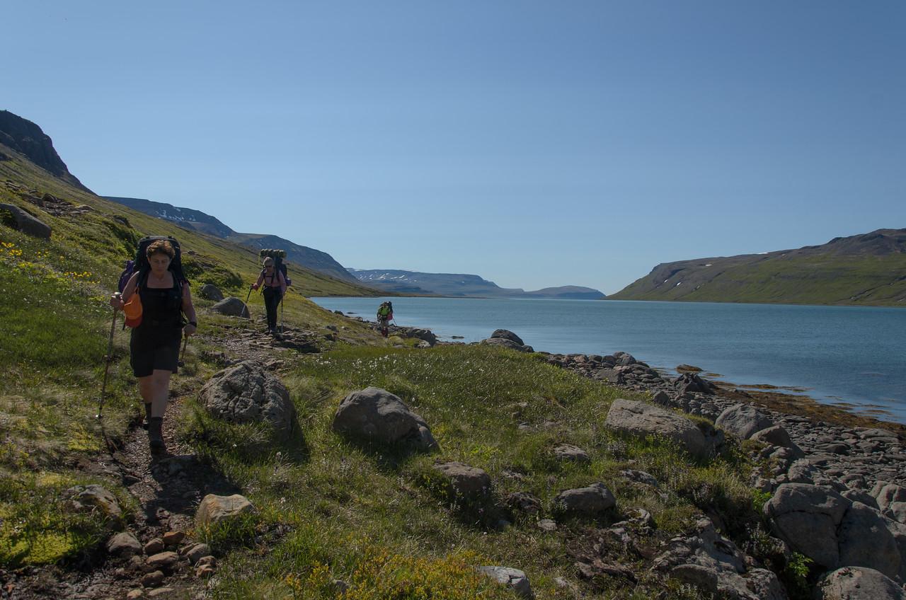 Rétt innan við Bjartalæk sunnan Hrafnfjarðar