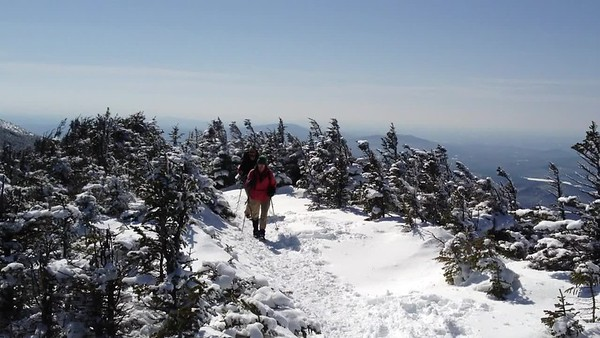 "David and Kathy hike across the Moosilauke ridge: ""a fine day on a fine mountain""."