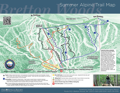 Summer alpine map