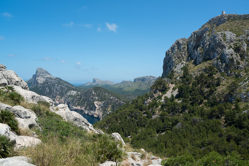 Mountains, vegetation and a bit of sea