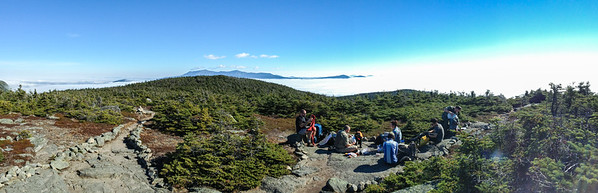 View of Franconia Ridge and Mount Cannon from summit of South Kinsman, White Mountain National Forest, New Hampshire.