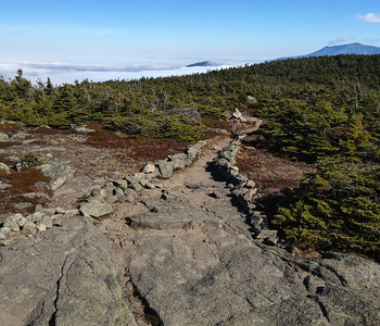 View from summit of South Kinsman, White Mountain National Forest, New Hampshire.