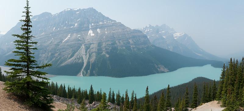 2014-07 Banff National Park, Canada Panorama above Peyto Lake
