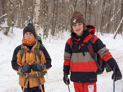 Andy and Sam prepare to ski into Moosilauke.