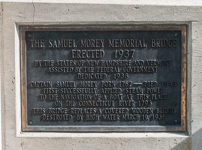 The Samuel Morey Memorial Bridge from Orford NH to Fairlee VT.