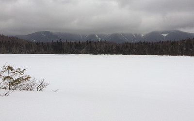 Franconia Ridge from Lonesome Lake in Franconia Notch, NH.