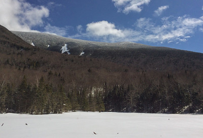 Moosilauke's south peak viewed from Mud Pond along the Tunnel Brook trail.