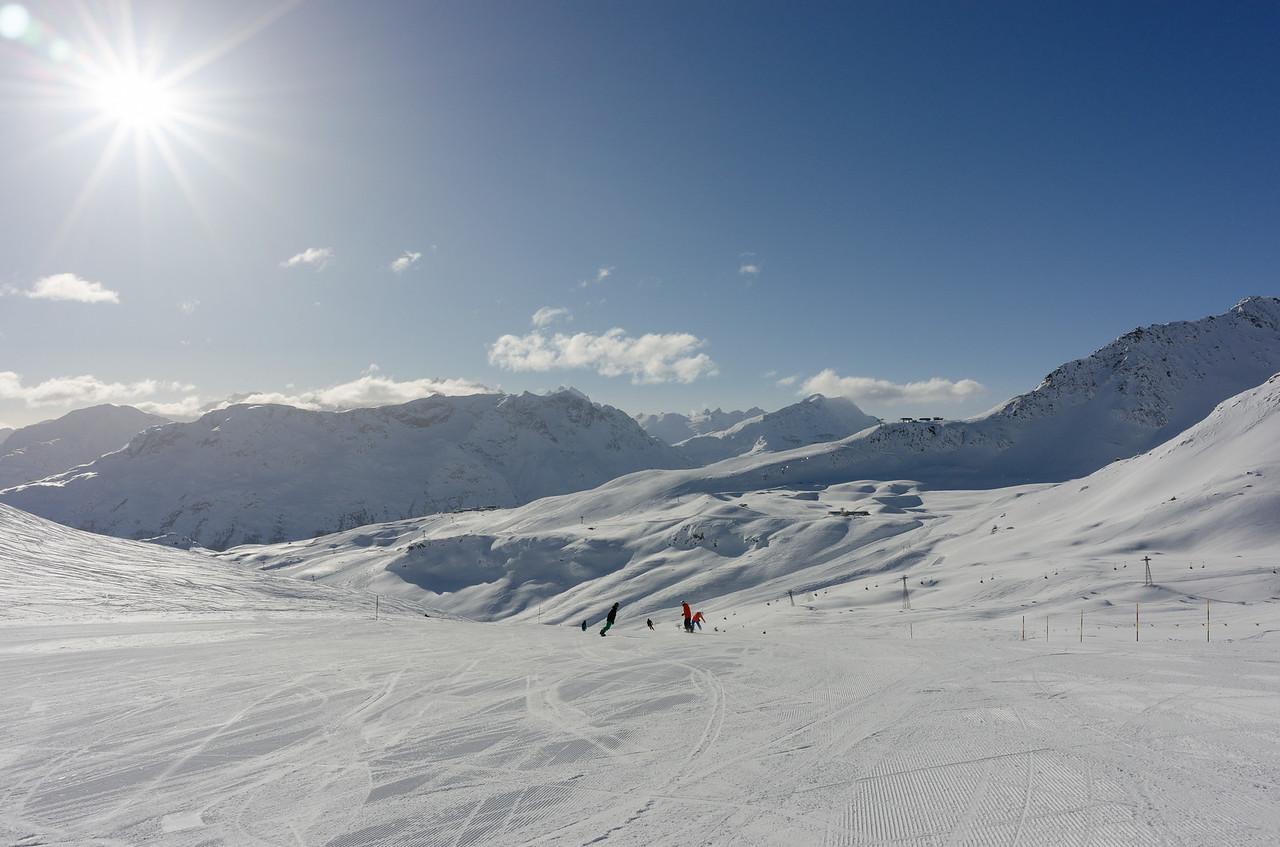 Sun, snow and blue sky!