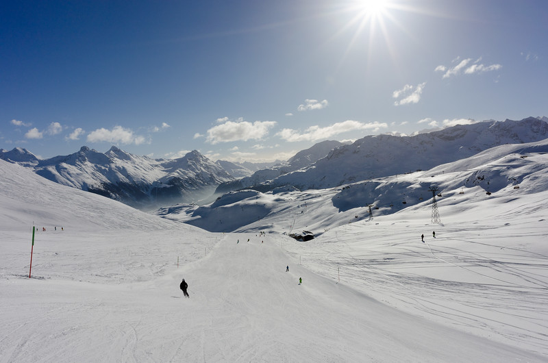 Piste and off-piste