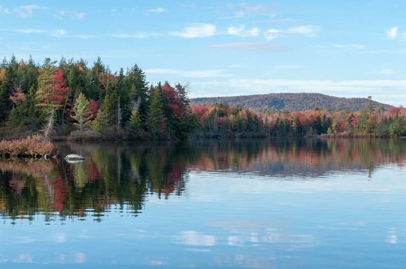 View from our lot on Lake Armington, in full fall colors.