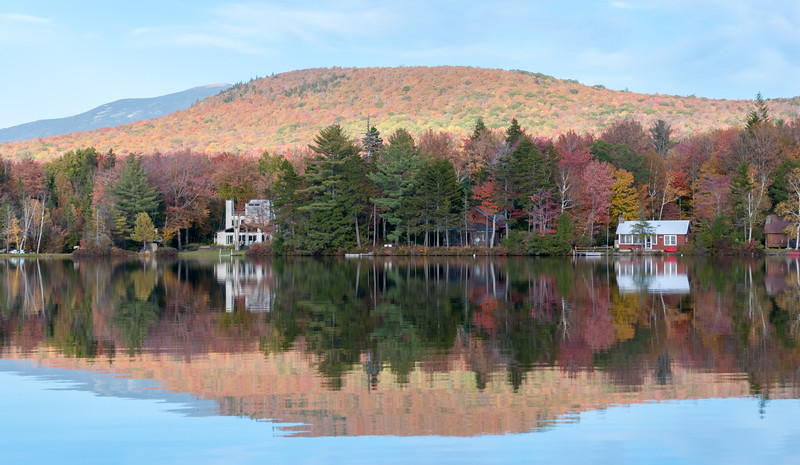 View of Moosilauke from Lake Armington, in full fall colors.