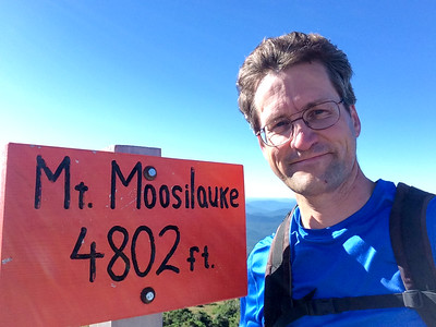 David at summit of Mount Moosilauke