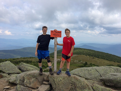 David and Andy on the summit of Mount Moosilauke.