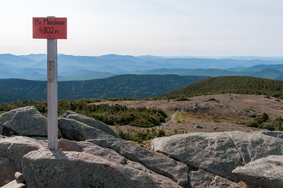 On the summit of Mount Moosilauke.