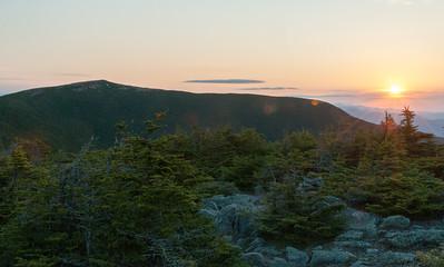 Sunrise on Mount Moosilauke, from South Peak..