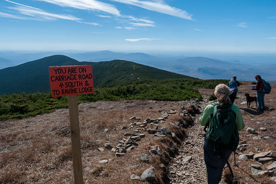 An ugly sign at each of the trails departing Mount Moosilauke summit.