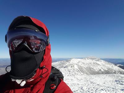 On Mt. Jefferson summit - looking back on Mt. Adams