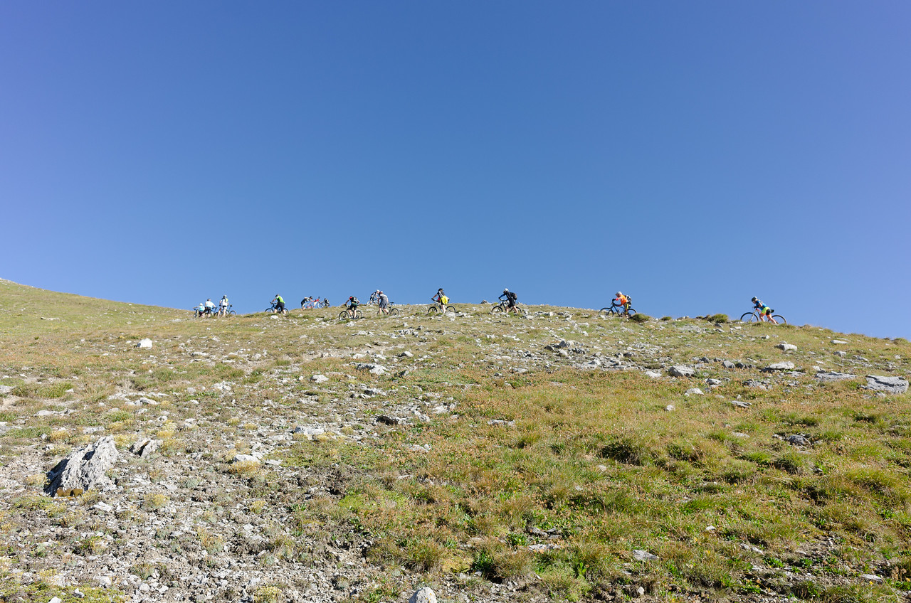 I can see the top! …and the remaining steep meters to climb :(
