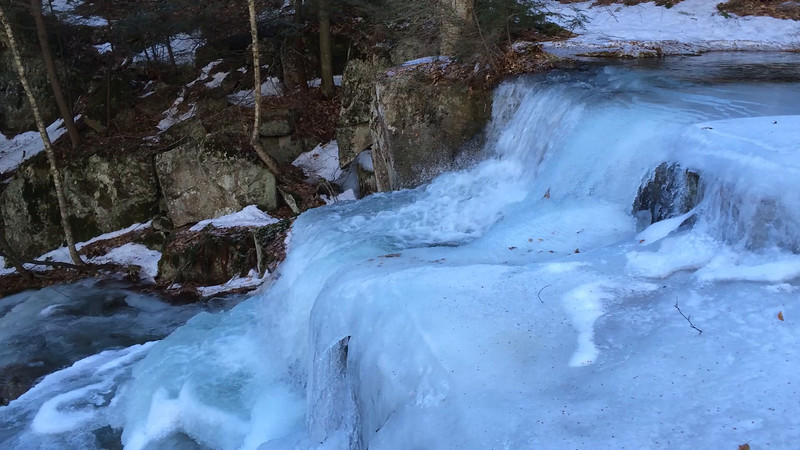 Gerry Falls, along the Windsor trail up Mount Ascutney.