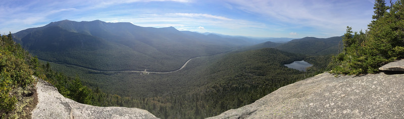 Panorama of Franconia Notch from the Hi-Cannon trail.