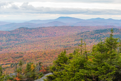 Fall colors from summit of Cardigan.
