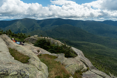 View of the Twins and Galehead from the summit of Mount Garfield.