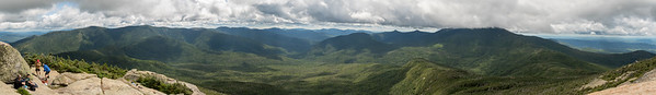 Mount Garfield panorama, looking south over the Pemigewasset Wilderness.