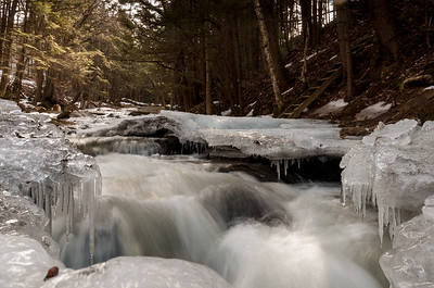 Ice formations on Hewes Brook, near our home.
