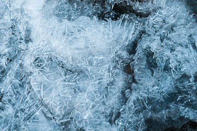 Ice patterns in Gerry Falls, along the Windsor trail up Mount Ascutney.