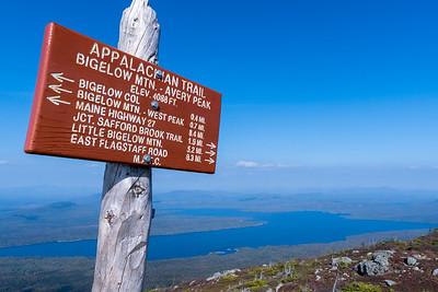 Summit of Avery Peak, Bigelow Mountain, Maine.