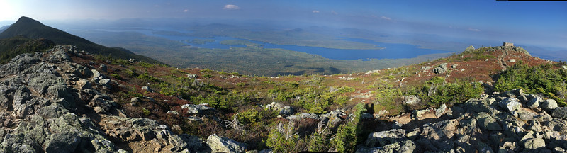 Panorama from west to north to east, Bigelow Mountain, Maine.